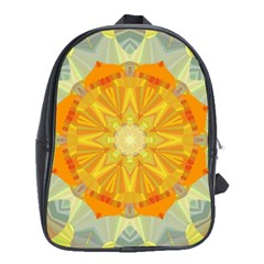 Sunshine Sunny Sun Abstract Yellow School Bags (xl)