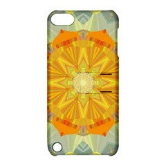 Sunshine Sunny Sun Abstract Yellow Apple Ipod Touch 5 Hardshell Case With Stand by Nexatart