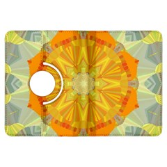Sunshine Sunny Sun Abstract Yellow Kindle Fire Hdx Flip 360 Case by Nexatart