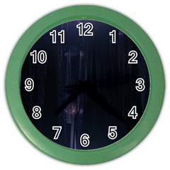 Abstract Dark Stylish Background Color Wall Clocks by Nexatart