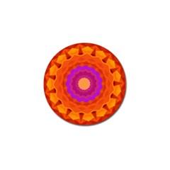 Mandala Orange Pink Bright Golf Ball Marker (10 Pack) by Nexatart