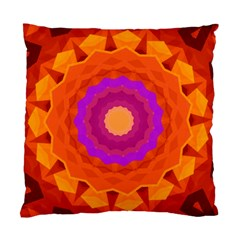 Mandala Orange Pink Bright Standard Cushion Case (one Side)