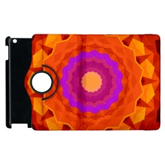 Mandala Orange Pink Bright Apple Ipad 2 Flip 360 Case