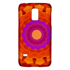 Mandala Orange Pink Bright Galaxy S5 Mini by Nexatart