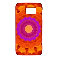 Mandala Orange Pink Bright Galaxy S6 by Nexatart