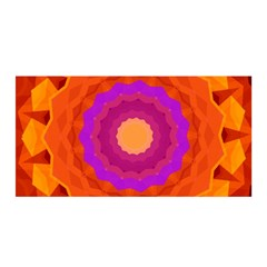 Mandala Orange Pink Bright Satin Wrap