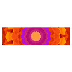 Mandala Orange Pink Bright Satin Scarf (oblong)