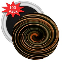 Strudel Spiral Eddy Background 3  Magnets (100 Pack)