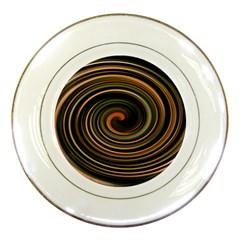 Strudel Spiral Eddy Background Porcelain Plates by Nexatart