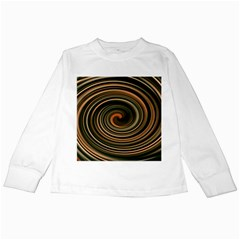 Strudel Spiral Eddy Background Kids Long Sleeve T Shirts