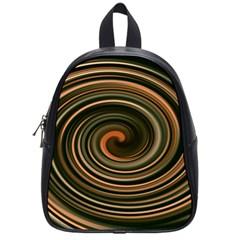 Strudel Spiral Eddy Background School Bags (small)  by Nexatart