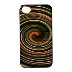 Strudel Spiral Eddy Background Apple Iphone 4/4s Hardshell Case With Stand by Nexatart