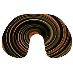 Strudel Spiral Eddy Background Travel Neck Pillows
