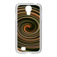 Strudel Spiral Eddy Background Samsung Galaxy S4 I9500/ I9505 Case (white) by Nexatart