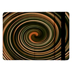 Strudel Spiral Eddy Background Samsung Galaxy Tab Pro 12 2  Flip Case by Nexatart