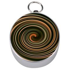Strudel Spiral Eddy Background Silver Compasses