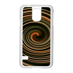 Strudel Spiral Eddy Background Samsung Galaxy S5 Case (white) by Nexatart