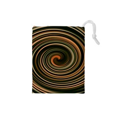 Strudel Spiral Eddy Background Drawstring Pouches (small)