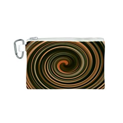 Strudel Spiral Eddy Background Canvas Cosmetic Bag (s) by Nexatart