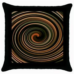 Strudel Spiral Eddy Background Throw Pillow Case (black) by Nexatart