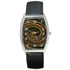 Strudel Spiral Eddy Background Barrel Style Metal Watch