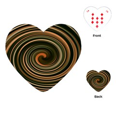 Strudel Spiral Eddy Background Playing Cards (heart)