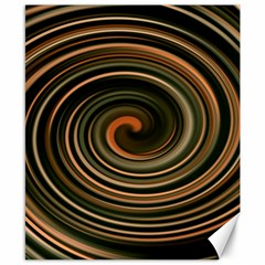 Strudel Spiral Eddy Background Canvas 8  X 10  by Nexatart