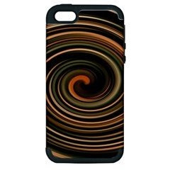 Strudel Spiral Eddy Background Apple Iphone 5 Hardshell Case (pc+silicone) by Nexatart