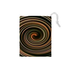 Strudel Spiral Eddy Background Drawstring Pouches (small)