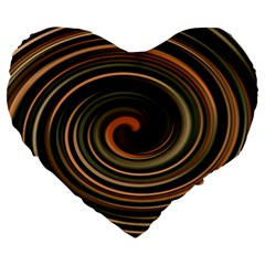 Strudel Spiral Eddy Background Large 19  Premium Flano Heart Shape Cushions