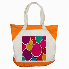 Paint Circle Red Pink Yellow Blue Green Polka Accent Tote Bag by Mariart