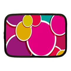 Paint Circle Red Pink Yellow Blue Green Polka Netbook Case (medium)  by Mariart