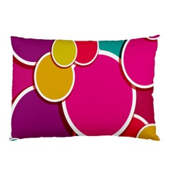 Paint Circle Red Pink Yellow Blue Green Polka Pillow Case by Mariart