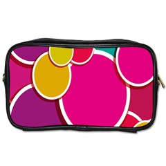 Paint Circle Red Pink Yellow Blue Green Polka Toiletries Bags by Mariart