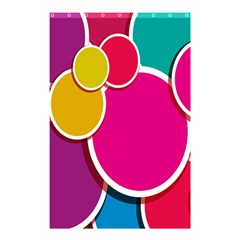 Paint Circle Red Pink Yellow Blue Green Polka Shower Curtain 48  X 72  (small)  by Mariart