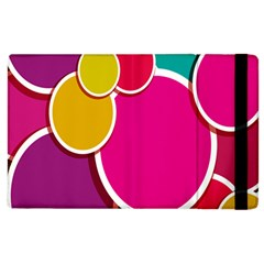 Paint Circle Red Pink Yellow Blue Green Polka Apple Ipad 3/4 Flip Case by Mariart