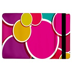 Paint Circle Red Pink Yellow Blue Green Polka Ipad Air Flip by Mariart