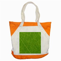 Green Leaf Line Accent Tote Bag by Mariart
