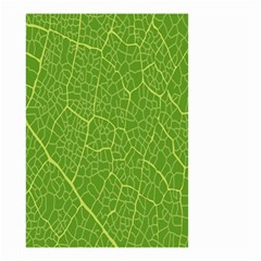 Green Leaf Line Small Garden Flag (two Sides) by Mariart