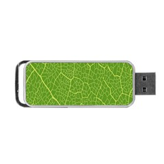 Green Leaf Line Portable Usb Flash (two Sides) by Mariart