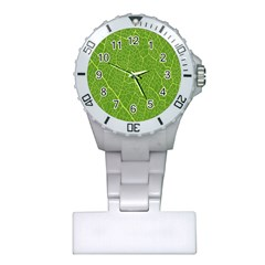Green Leaf Line Plastic Nurses Watch by Mariart