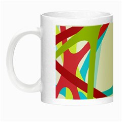 Nets Network Green Red Blue Line Night Luminous Mugs by Mariart