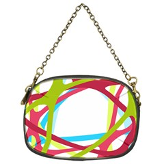 Nets Network Green Red Blue Line Chain Purses (one Side)  by Mariart