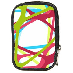 Nets Network Green Red Blue Line Compact Camera Cases by Mariart