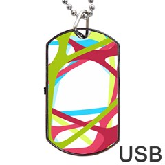 Nets Network Green Red Blue Line Dog Tag Usb Flash (two Sides)