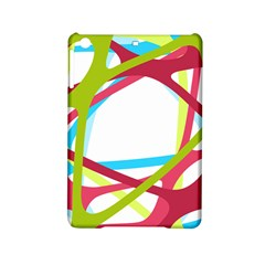 Nets Network Green Red Blue Line Ipad Mini 2 Hardshell Cases by Mariart