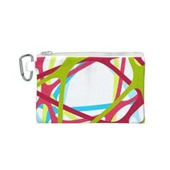 Nets Network Green Red Blue Line Canvas Cosmetic Bag (s) by Mariart