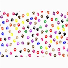 Paw Prints Dog Cat Color Rainbow Animals Canvas 24  X 36  by Mariart