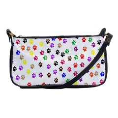 Paw Prints Dog Cat Color Rainbow Animals Shoulder Clutch Bags by Mariart