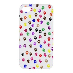 Paw Prints Dog Cat Color Rainbow Animals Apple Iphone 4/4s Premium Hardshell Case by Mariart